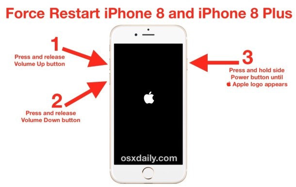 How to force restart iPhone 8 Plus and iPhone 8