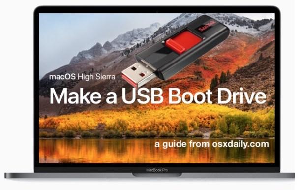 Как сделать загрузочный USB-накопитель macOS High Sierra