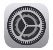 Icono de configuración de iOS