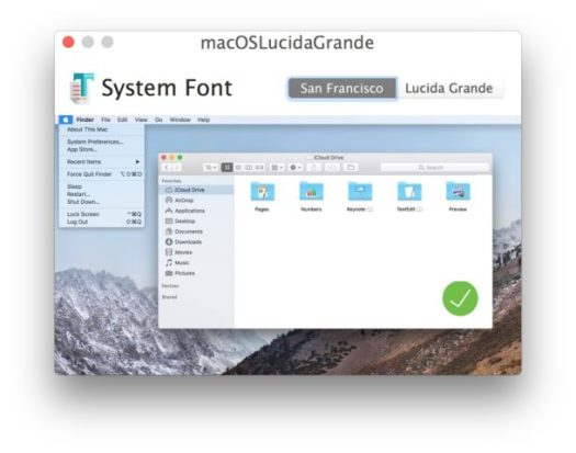 Restore San Francisco as System Font in Mac High Sierra