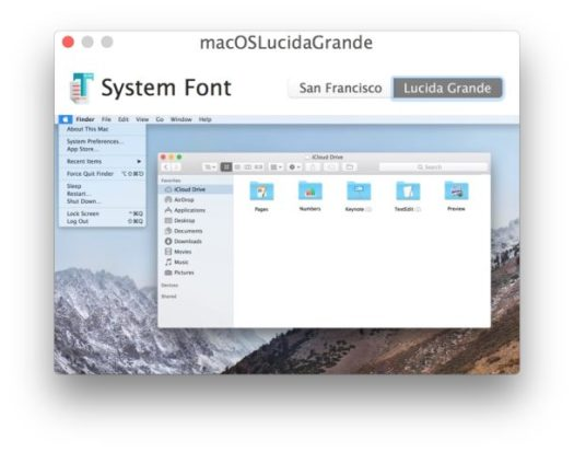 Change the MacOS System Font to Lucida Grande