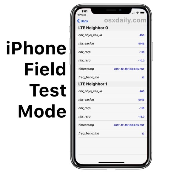How to Use Field Test Mode in iOS 12 & iOS 11 and iPhone X