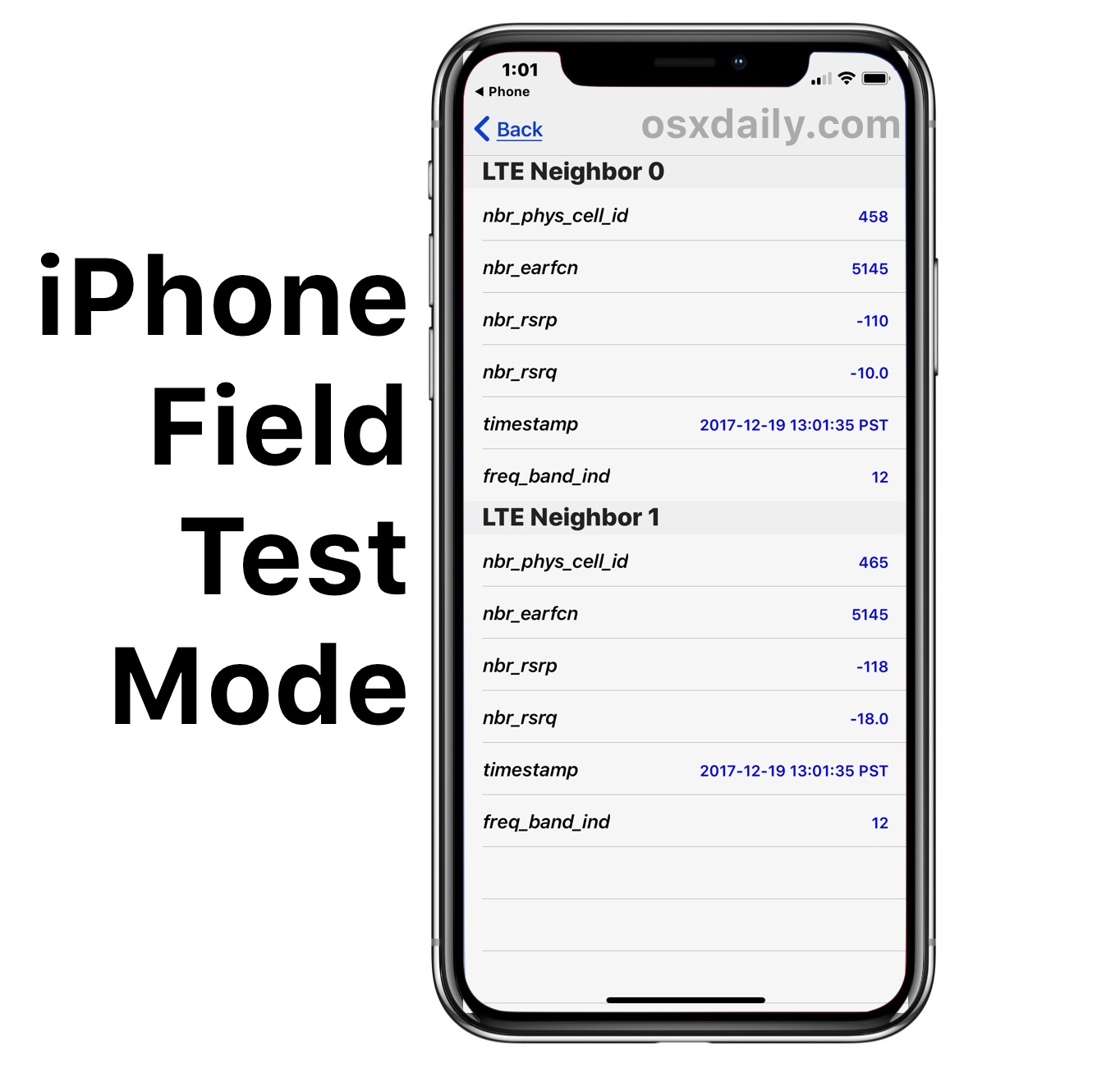 How to Use Field Test Mode in iOS 13 & iOS 12 and iPhone X