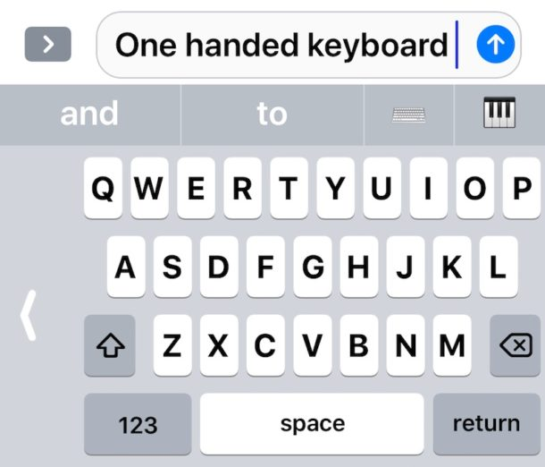 One Handed Keyboard on iPhone