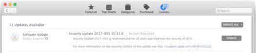 Security Update for macOS Sierra and El capitan