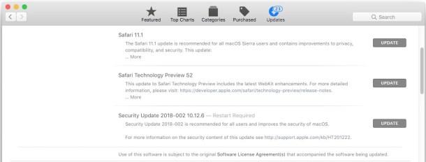 Обновление безопасности 2018-002 доступно для Сьерра и Эль-Капитан