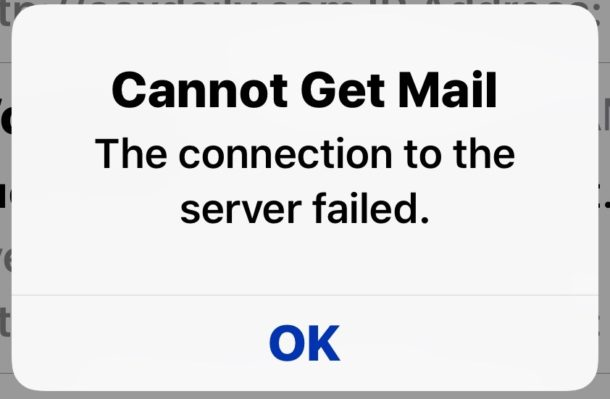 "How to Fix ""Cannot Get Mail"" Error on iPhone and iPad"
