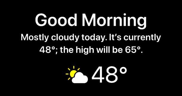 Смотрите Погода на экране блокировки iPhone