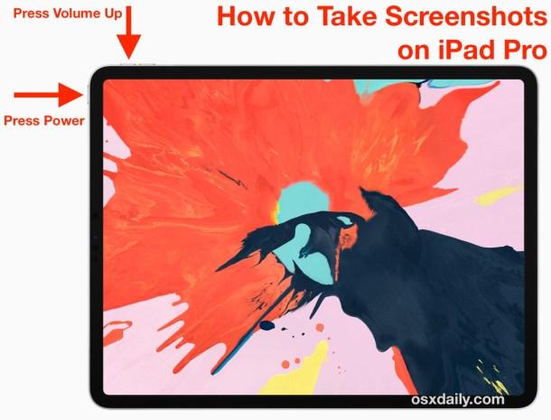 Как сделать снимок экрана на iPad Pro