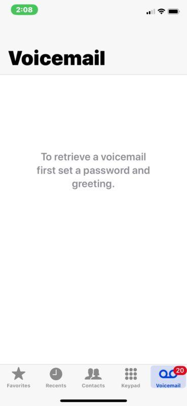 Ошибка голосовой почты: установить пароль и приветствие на iPhone