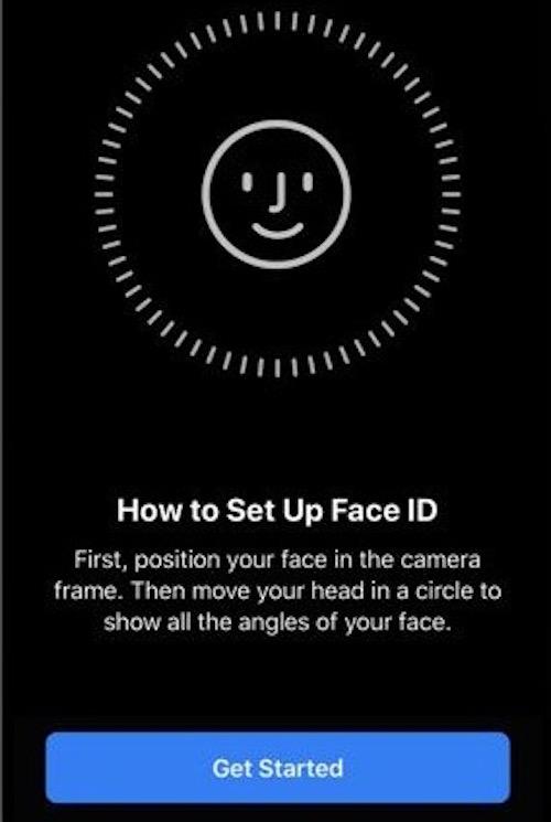 Настроить Face ID на iOS