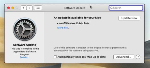 Бета-версия MacOS Mojave