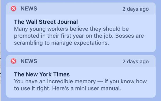 Как отключить уведомления Apple News на Mac