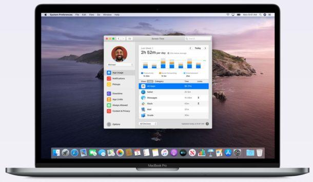 Экранное время на Mac
