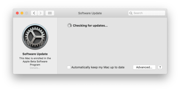 How to opt out of beta MacOS system software updates