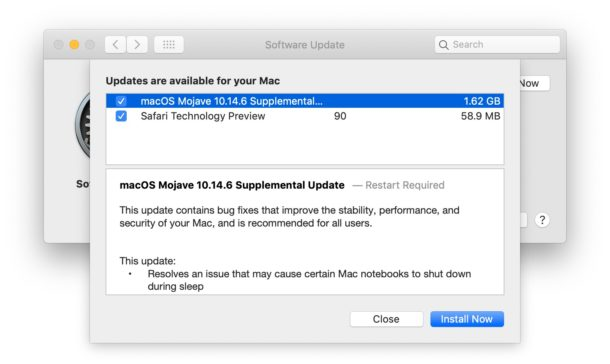 New Supplemental Update for MacOS Mojave 10 14 6 Released