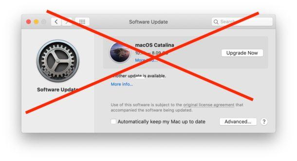 Как скрыть обновление MacOS Catalina на Mac