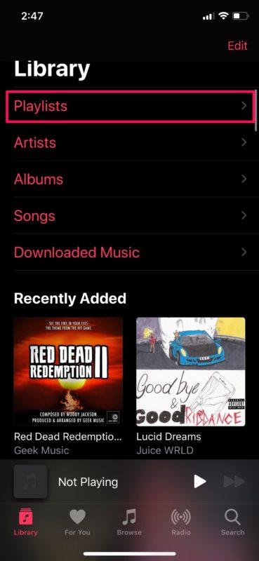 Как увидеть недавно добавленные песни в Apple Music