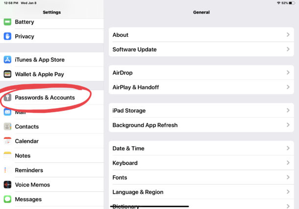 How to add AOL email account to iPad or iPhone