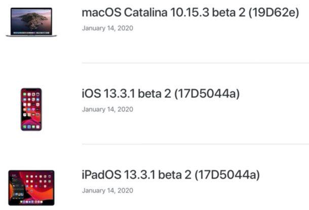 Новые бета-версии iOS и iPadOS и macOS