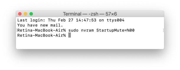 Habilite el timbre de arranque en las Mac más nuevas con un comando de terminal
