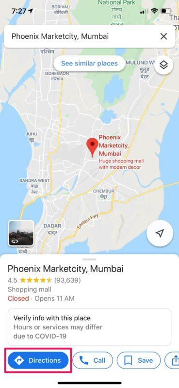 Как поделиться прогрессом поездки с Google Maps на iPhone