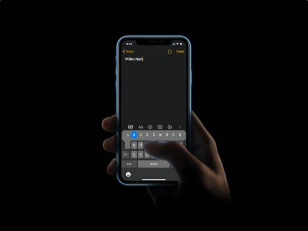Как набирать буквы с ударением на клавиатуре iPhone и iPad