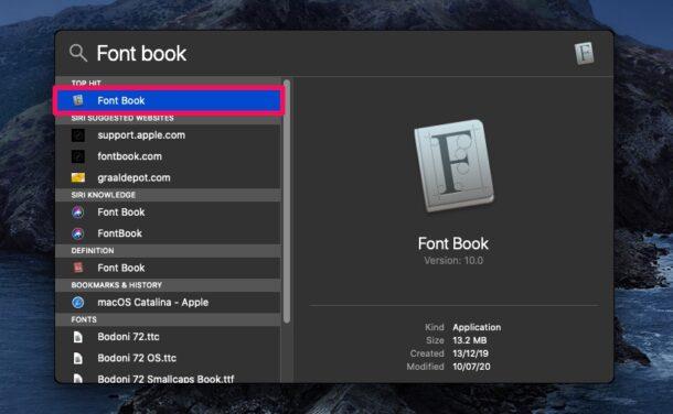 Как установить новые скрытые шрифты в MacOS Catalina и Big Sur