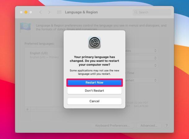 Как изменить регион Mac