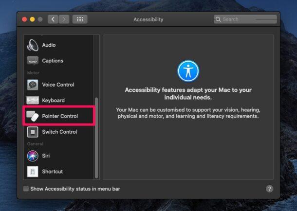 Как использовать клавиатуру в качестве мыши на Mac