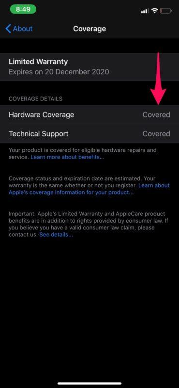 Как проверить, находится ли ваш iPhone на гарантии
