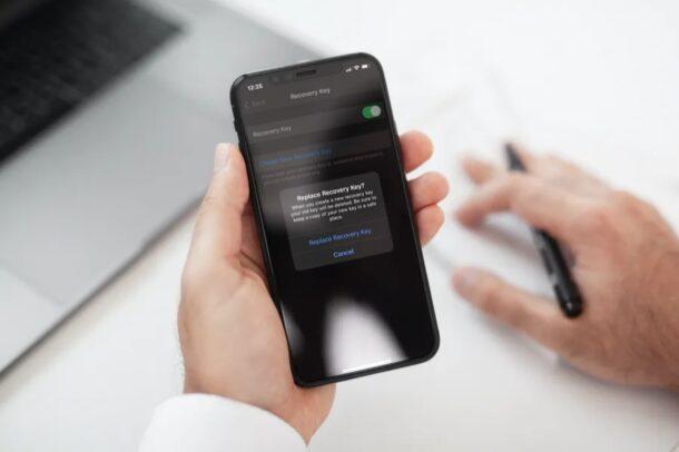 Как заменить утерянный ключ восстановления на iPhone