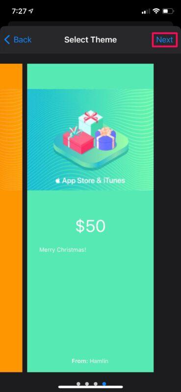 Как отправить подарочные карты Apple с iPhone и iPad