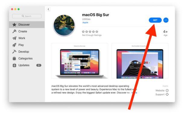 Загрузите macOS Big Sur в Mac App Store