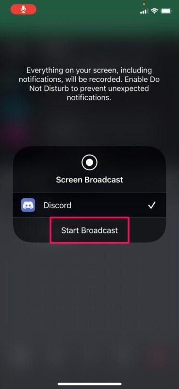 Как использовать общий доступ к экрану с помощью Discord на iPhone и iPad