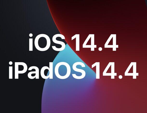 iOS 14.4 и iPadOS 14.4