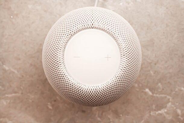 Как изменить громкость Siri на HomePod