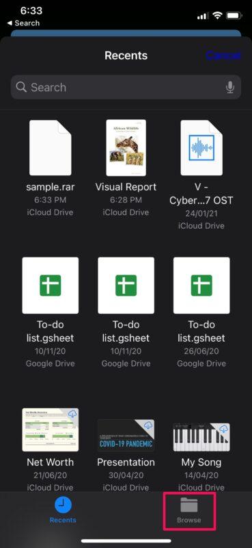 Как извлечь файлы RAR на iPhone и iPad