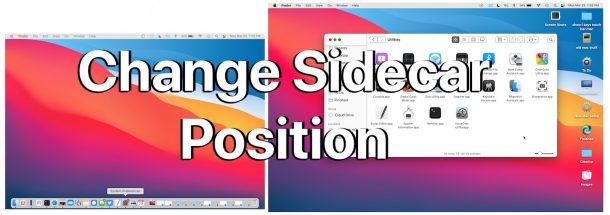 Измените положение Sidecar iPad на Mac и