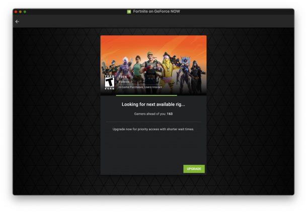 Играть в Fortnite на GeForceNow отлично, но есть очереди на бесплатную версию