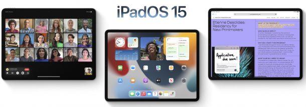 iPadOS 15 совместимые устройства