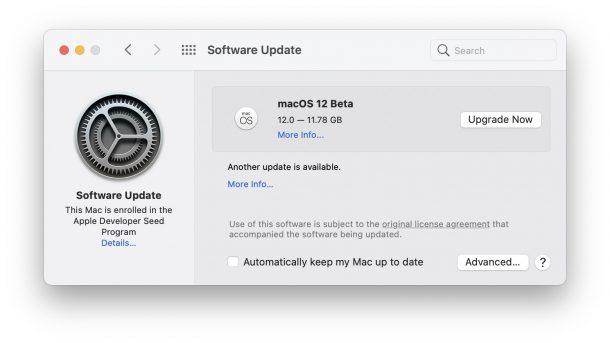 macOS 12 beta скачать
