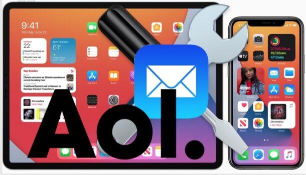 Устранение проблем с электронной почтой AOL для iPhone и iPad