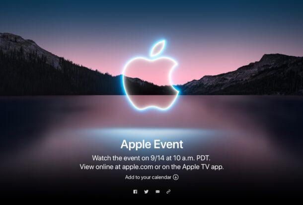 Apple Event на сентябрь 2021 года