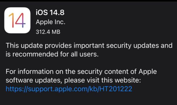 iOS 14.8 обновить