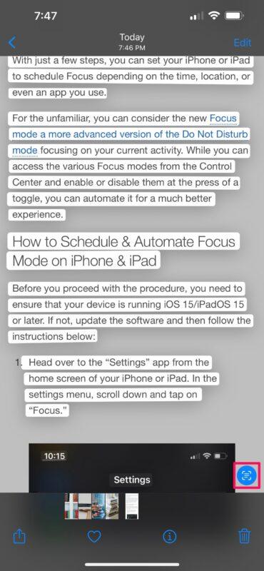 Как копировать и вставлять текст из фотографий на iPhone