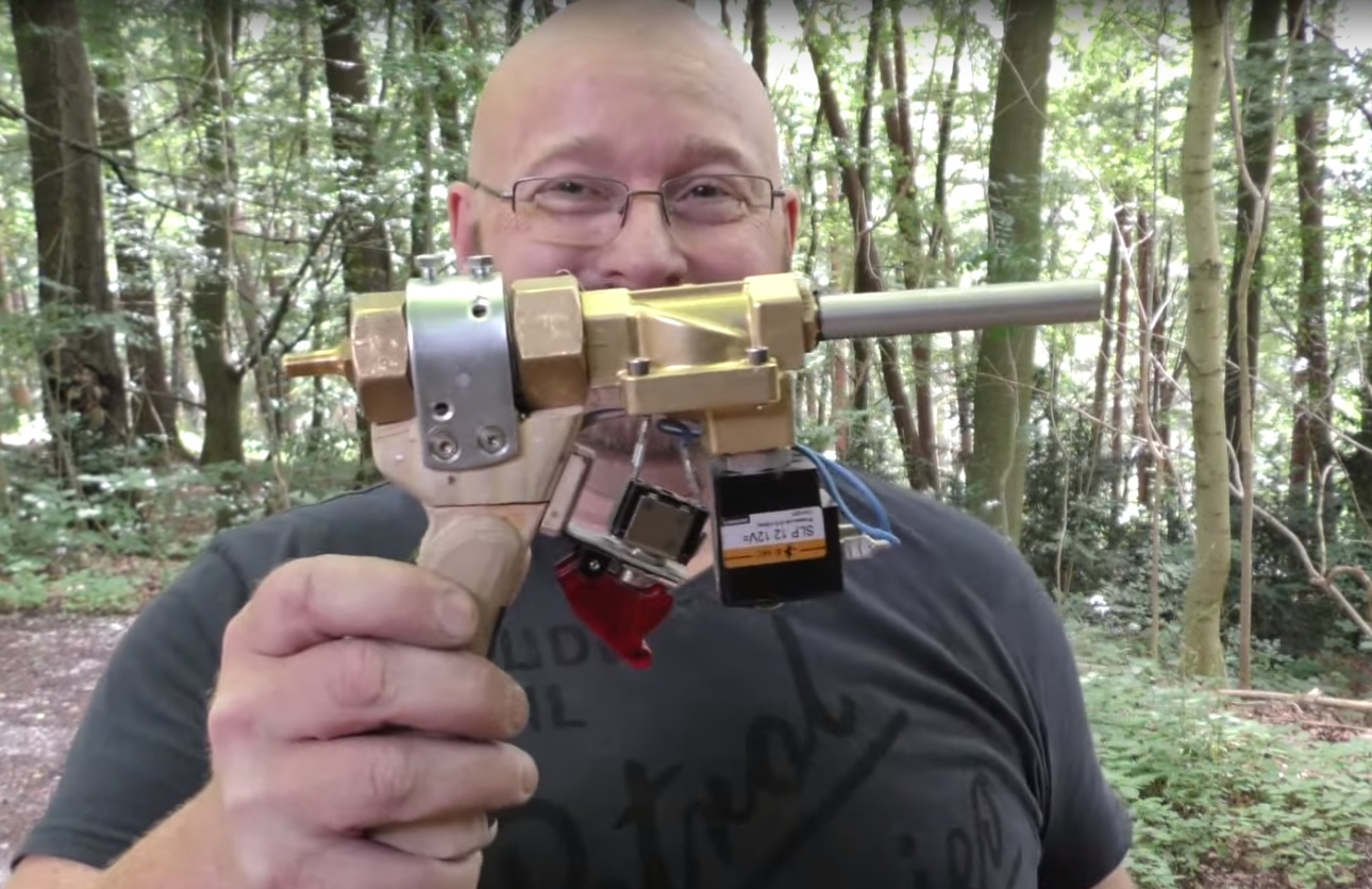 Diagram Of Bull Video Ridiculously Powerful Pistol Size Pneumatic Arrow