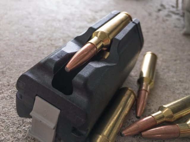 The removable magazine is flush with the stock but still fits five rounds of 6.5 Creedmoor.
