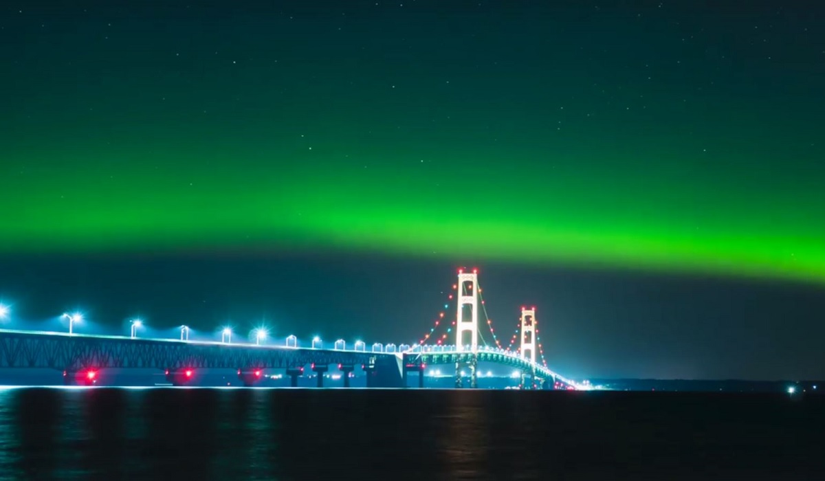 Mackinac Bridge Northern Lights