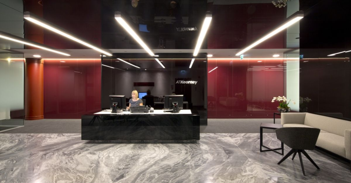 Inside the London Office Fit Out for AT Kearney  Overbury